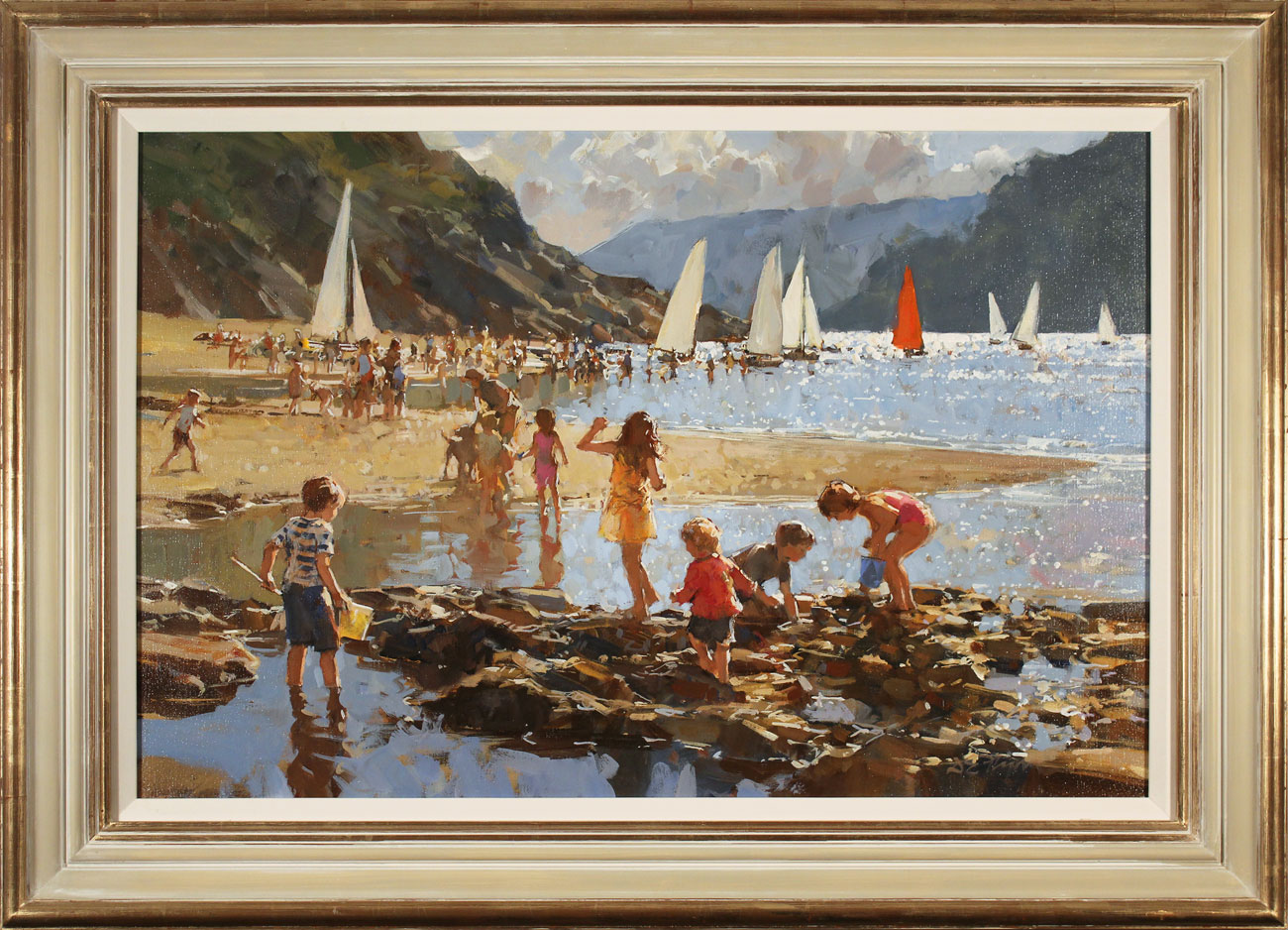 Dianne Flynn, Original acrylic painting on canvas, Ebbtide, Salcombe Click to enlarge