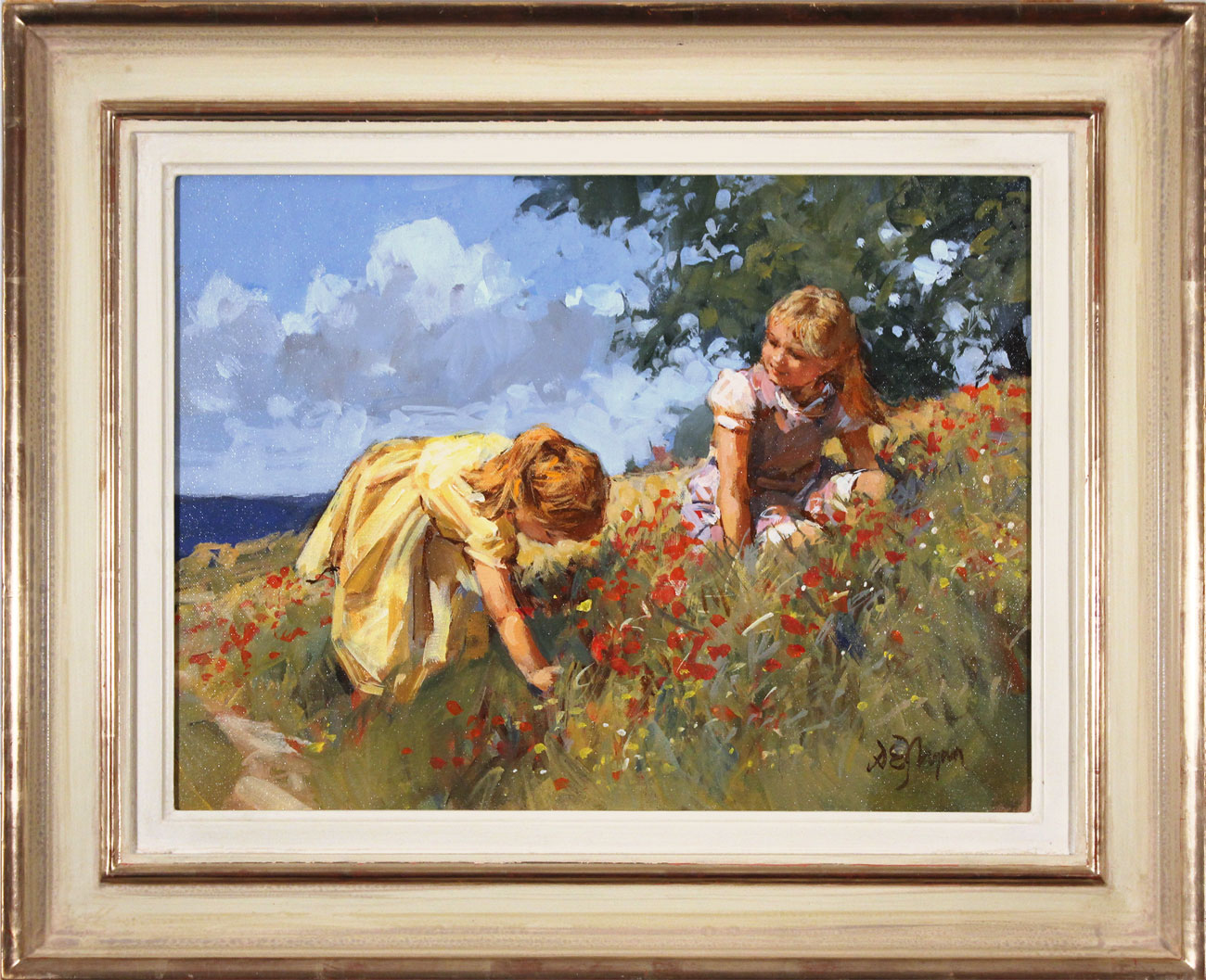 Dianne Flynn, Original acrylic painting on canvas, Maids in a Meadow Click to enlarge