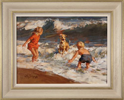 Dianne Flynn, Original acrylic painting on board, Splash! Medium image. Click to enlarge