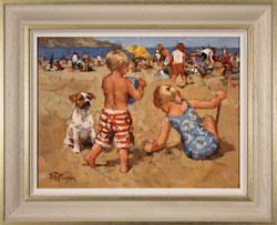 Dianne Flynn, Original acrylic painting on board, The Sands at Lyme Medium image. Click to enlarge