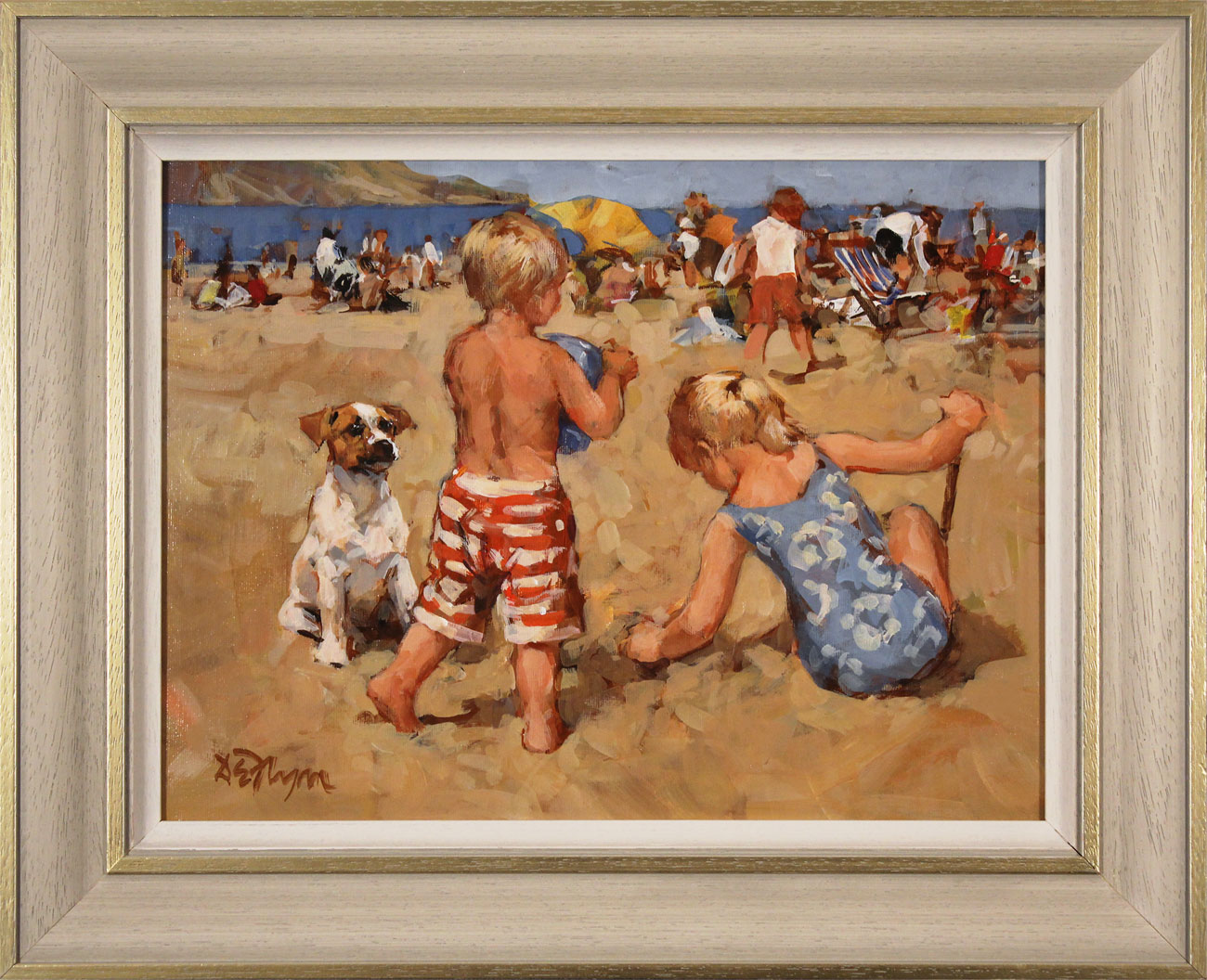 Dianne Flynn, Original acrylic painting on board, The Sands at Lyme Click to enlarge