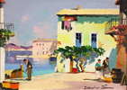 Doyly John, Original oil painting on canvas, Cap Ferrat, South of France