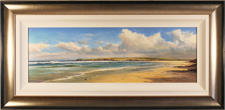 Duncan Palmar, Original oil painting on panel, Outing at Beadnell Bay, Northumberland