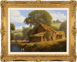 Edward Hersey, Original oil painting on canvas, Peaceful Perfection, North Yorkshire
