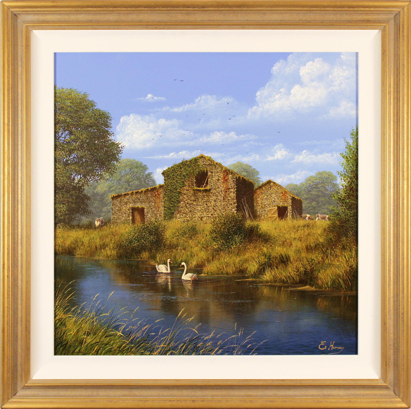 Edward Hersey, Original oil painting on canvas, Summer Graces Click to enlarge