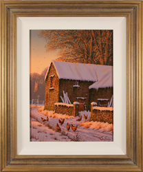 Edward Hersey, Original oil painting on canvas, Winter Walk, North Yorkshire