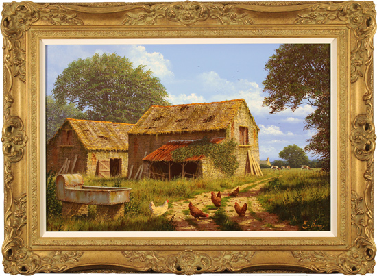 Edward Hersey, Original oil painting on canvas, Off the Beaten Track