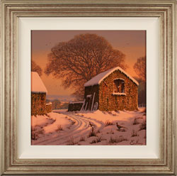 Edward Hersey, Original oil painting on canvas, Winter's Calm