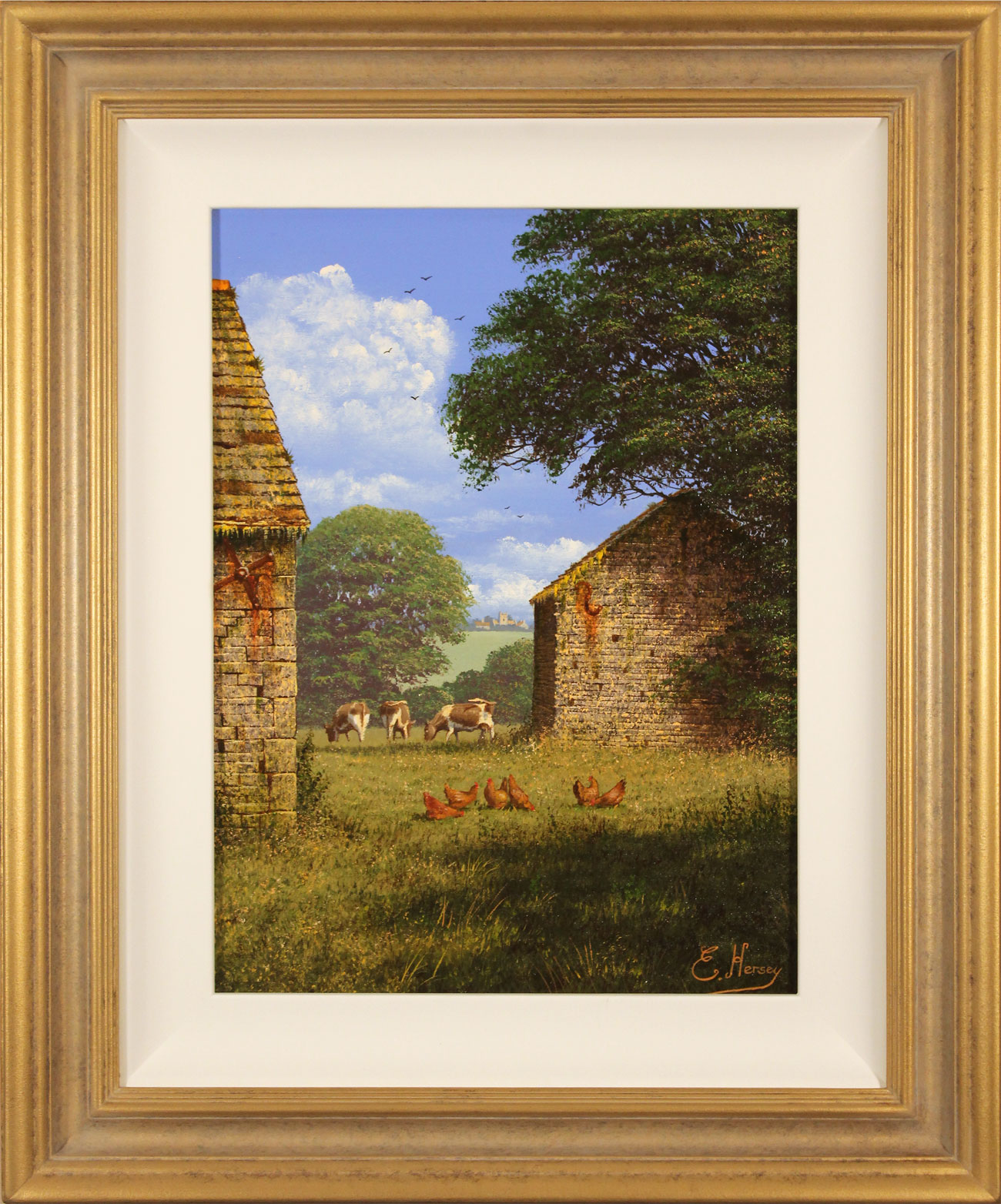 Edward Hersey, Original oil painting on canvas, One Fine Yorkshire Morning Click to enlarge