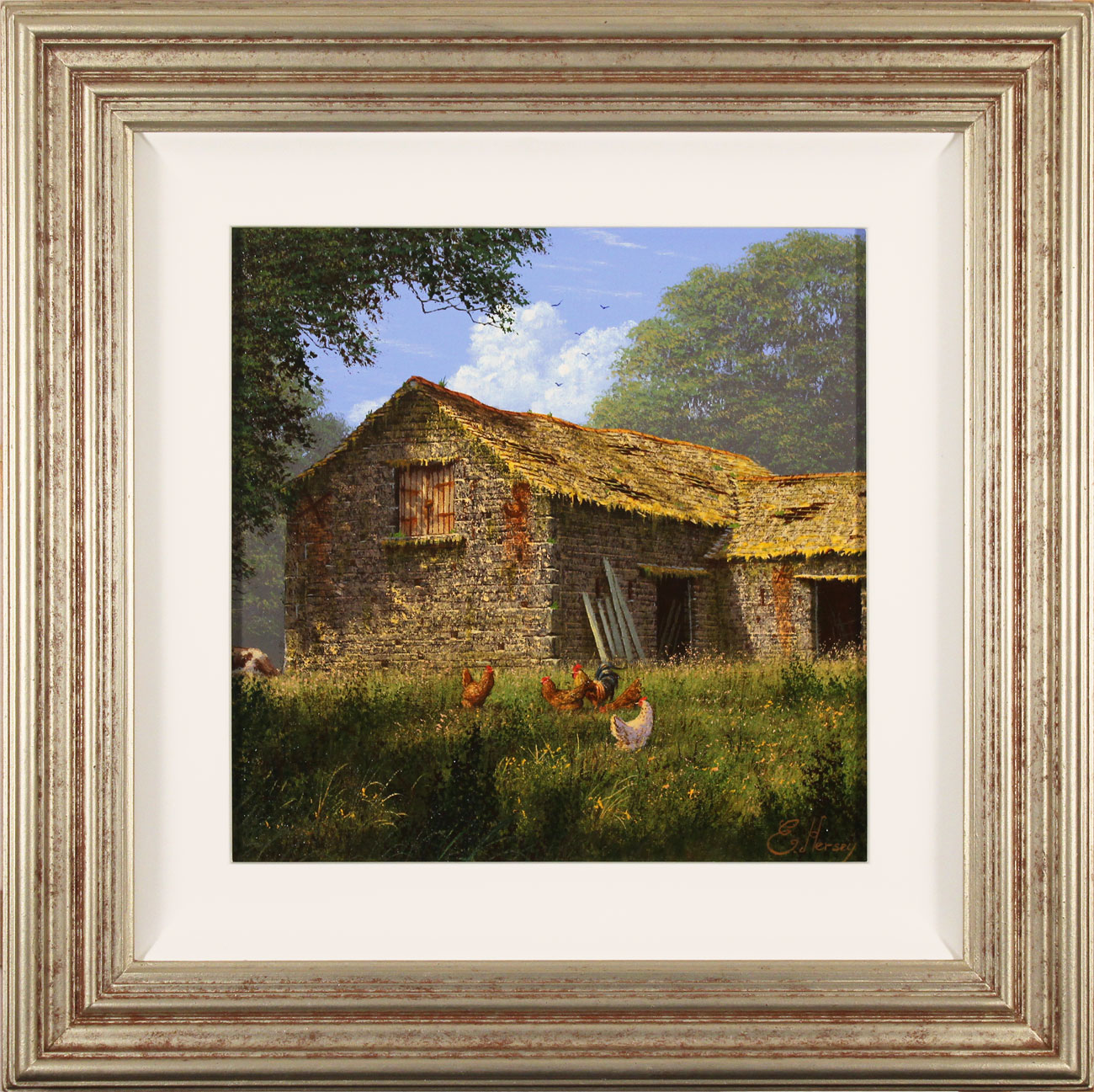 Edward Hersey, Original oil painting on canvas, The Summer Barn Click to enlarge