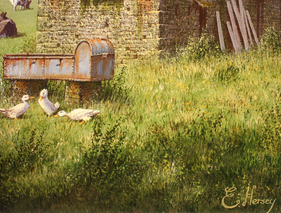 Edward Hersey, Original oil painting on canvas, Moment of Calm Signature image. Click to enlarge