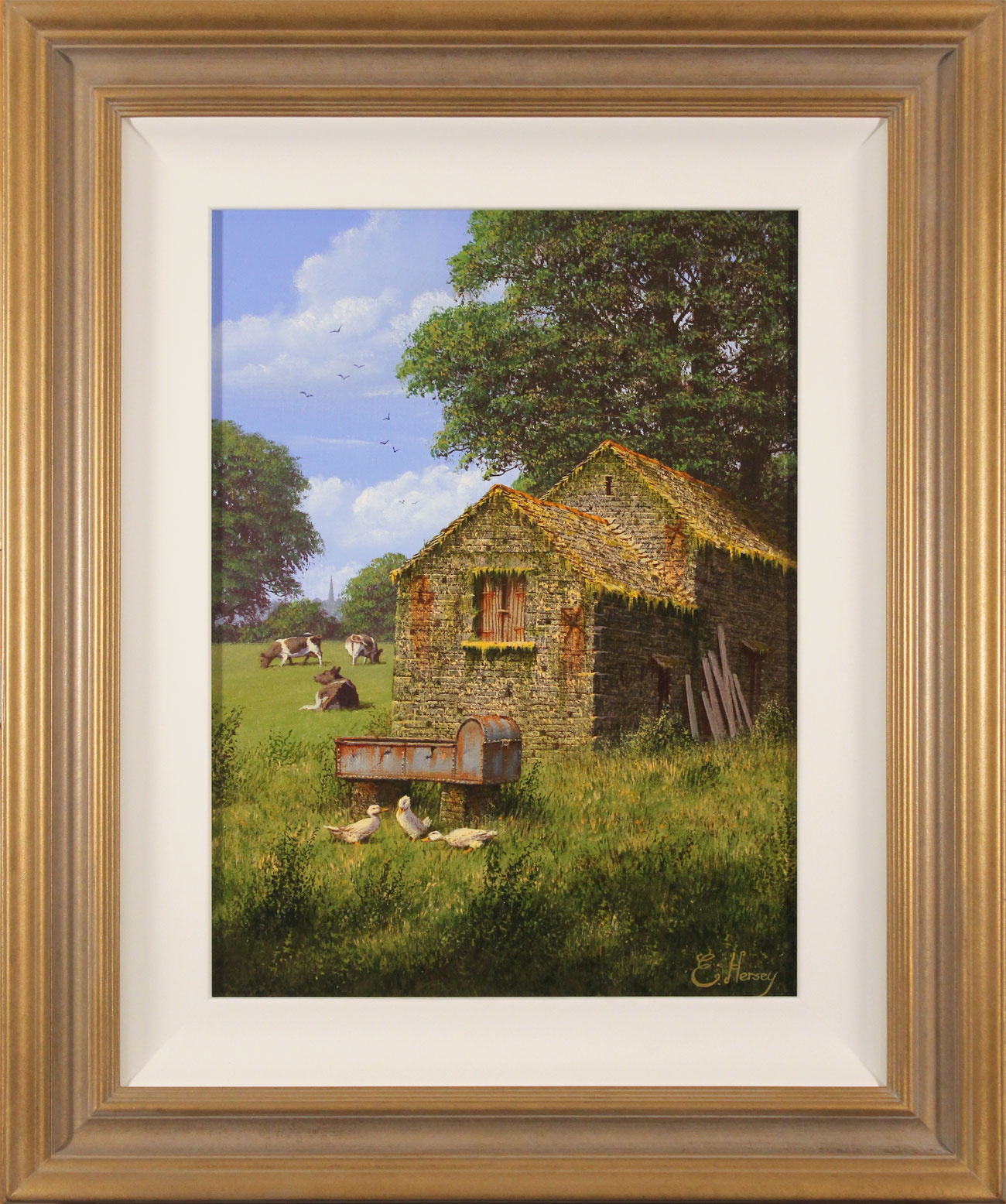 Edward Hersey, Original oil painting on canvas, Moment of Calm Click to enlarge