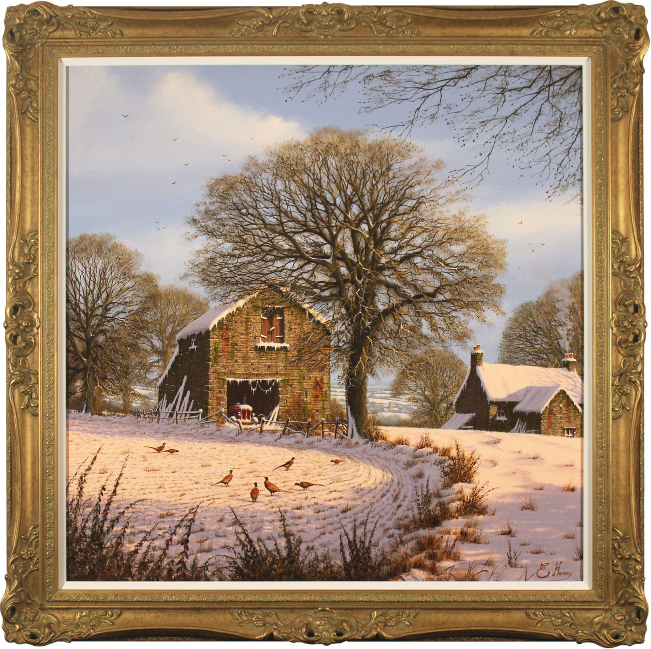Edward Hersey, Original oil painting on canvas, A Light Dusting, Yorkshire Dales Click to enlarge