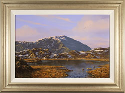 Edward Hersey, Original oil painting on canvas, Innominate Tarn, The Lake District