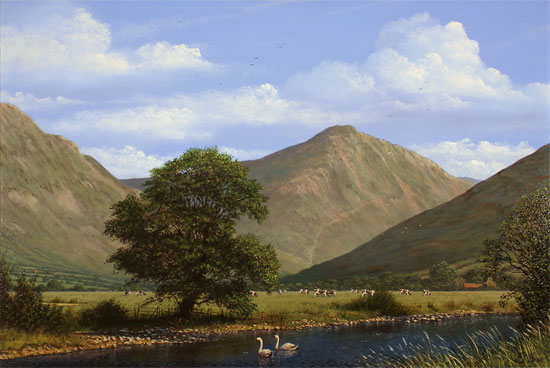 Edward Hersey, Original oil painting on panel, Great Gable, The Lake District No frame image. Click to enlarge