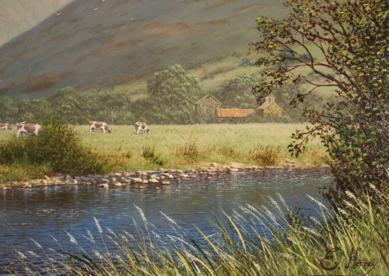 Edward Hersey, Original oil painting on panel, Great Gable, The Lake District Signature image. Click to enlarge