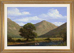 Edward Hersey, Original oil painting on canvas, Great Gable, The Lake District
