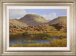 Edward Hersey, Original oil painting on panel, Summer's Glory, Innominate Tarn  Medium image. Click to enlarge