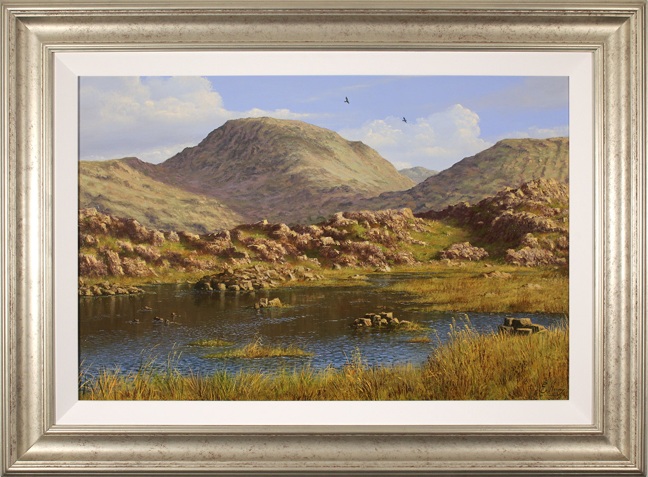 Edward Hersey, Original oil painting on panel, Summer's Glory, Innominate Tarn  Click to enlarge