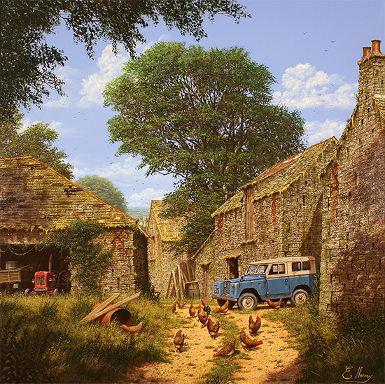 Edward Hersey, Original oil painting on panel, Roving Days Are Done No frame image. Click to enlarge