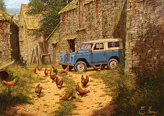 Edward Hersey, Original oil painting on panel, Roving Days Are Done Signature image. Click to enlarge