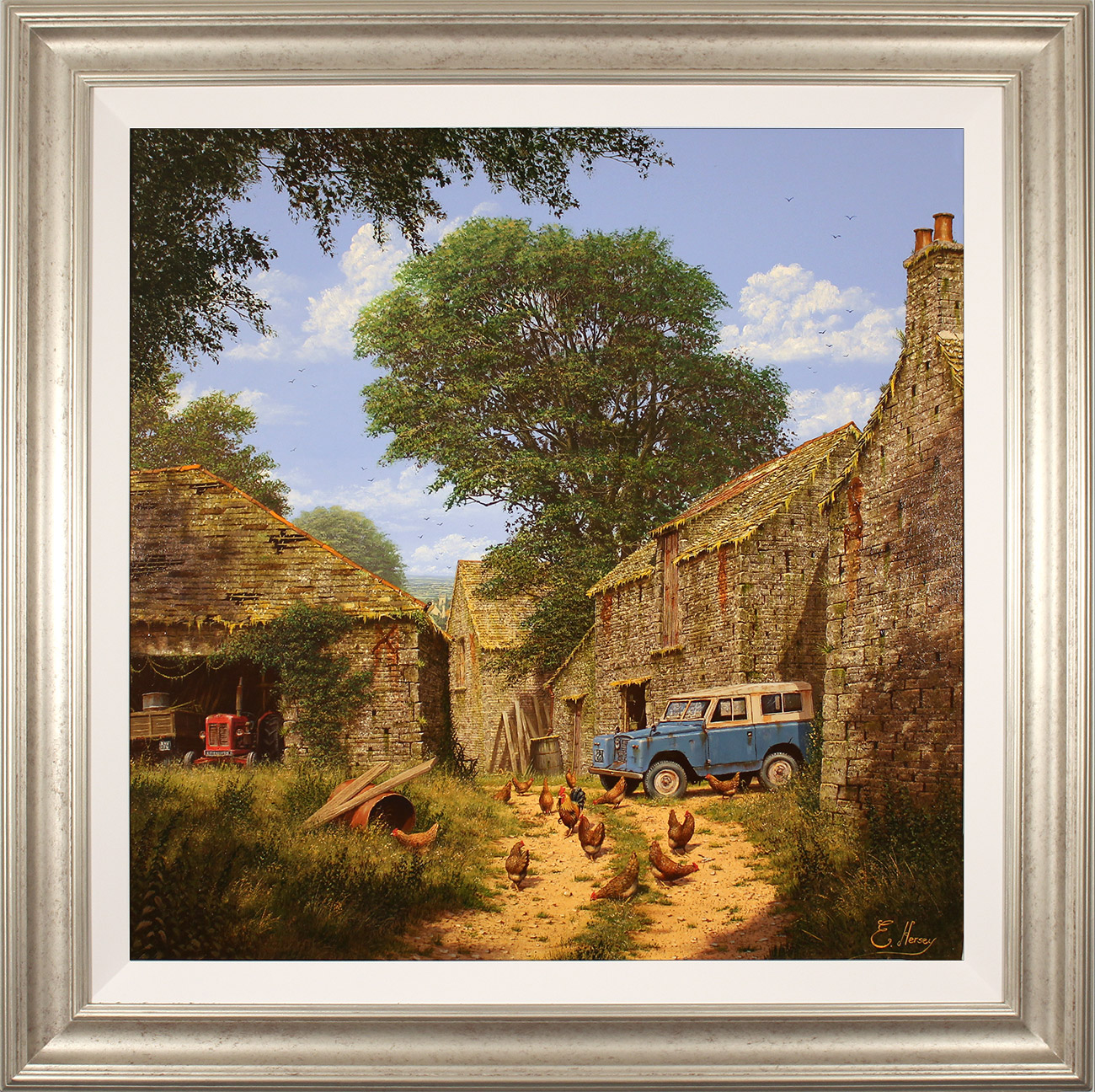 Edward Hersey, Original oil painting on panel, Roving Days Are Done Click to enlarge