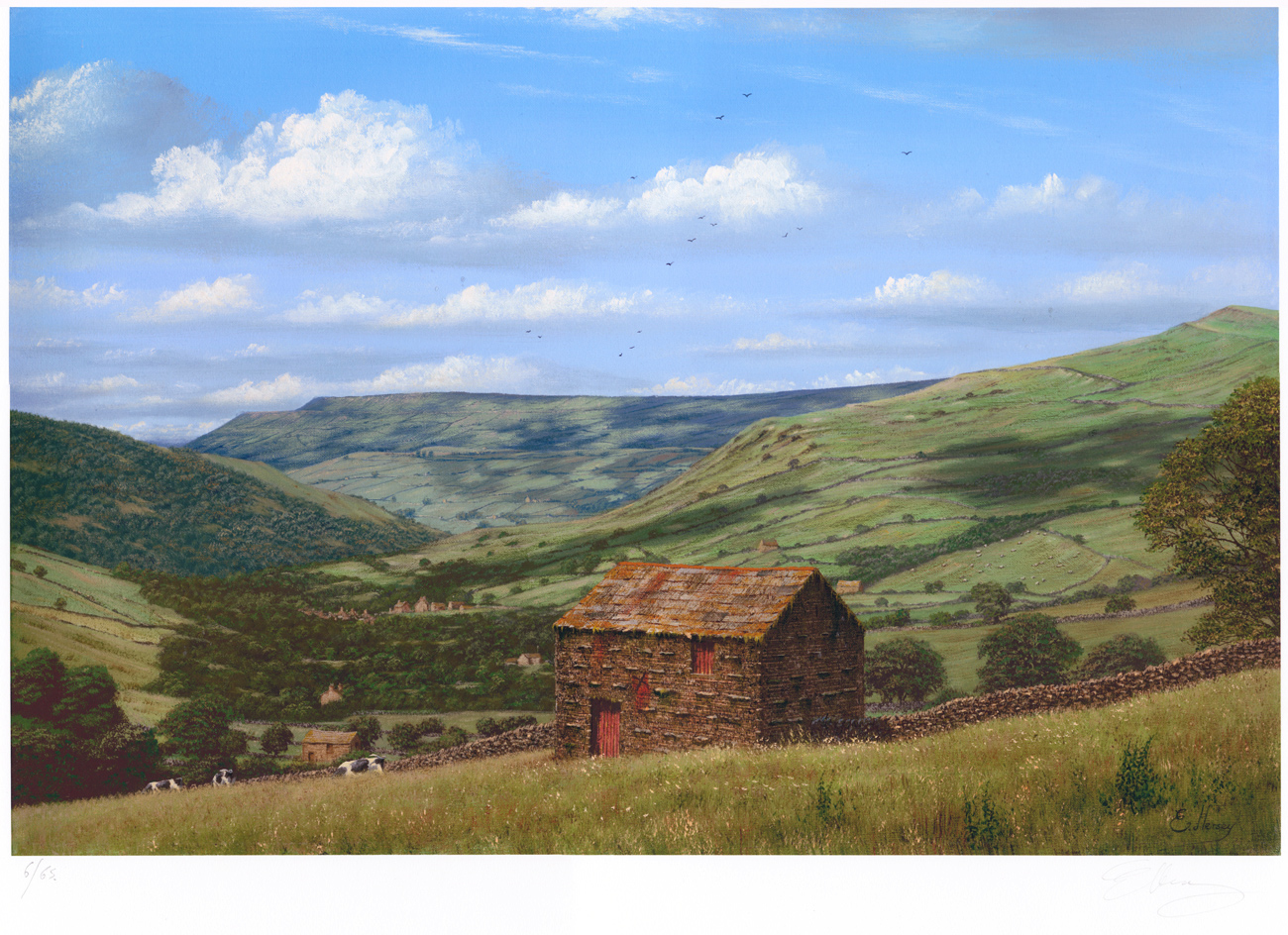 Edward Hersey, Signed limited edition print, Muker, North Yorkshire Click to enlarge
