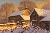 Edward Hersey, Original oil painting on canvas, Winter Glow, North Yorkshire