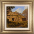 Edward Hersey, Original oil painting on canvas, Oakbridge Farm, The Cotswolds