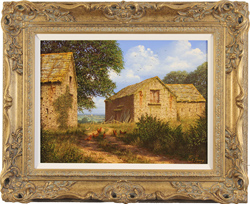 Edward Hersey, Original oil painting on canvas, Yorkshire Farm