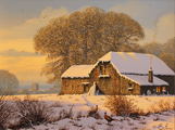 Edward Hersey, Original oil painting on canvas, Fading Light, North Yorkshire