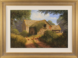 Edward Hersey, Original oil painting on canvas, Cotswolds Farm