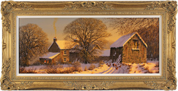 Edward Hersey, Original oil painting on canvas, Winter Radiance
