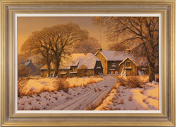 Edward Hersey, Original oil painting on canvas, Home At Last