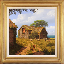 Edward Hersey, Original oil painting on canvas, Anglesey Barn