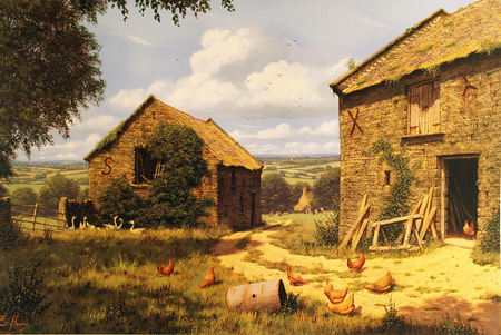 Edward Hersey, Signed limited edition print, To the Vale and Beyond No frame image. Click to enlarge