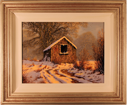 Edward Hersey, Cotswolds Farm, Original Oil Painting on canvas
