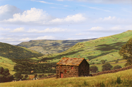 Edward Hersey, Original oil painting on canvas, Muker, North Yorkshire