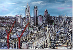 Ewen Macaulay, London Panoramic, Original acrylic painting on canvas