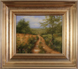 George Atkinson, Original oil painting on panel, Path of Garrowby Hill, Vale of York