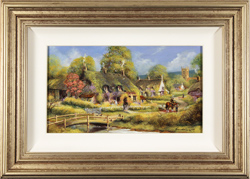 Gordon Lees, Original oil painting on panel, Spring Afternoon, The Cotswolds
