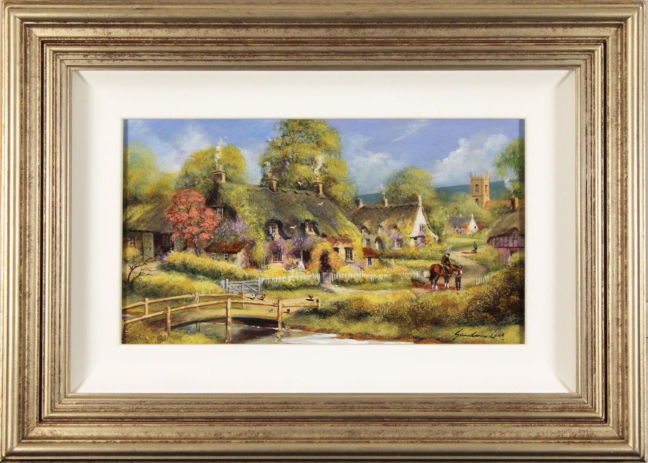 Gordon Lees, Original oil painting on panel, Spring Afternoon, The Cotswolds Click to enlarge