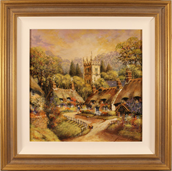 Gordon Lees, Original oil painting on panel, Picture of Perfection, The Cotswolds