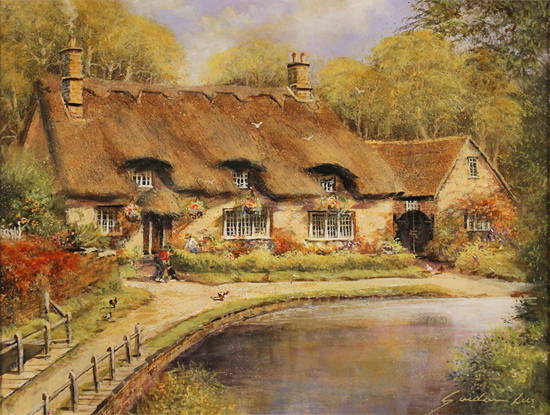 Gordon Lees, Original oil painting on panel, Thornton le Dale, North Yorkshire