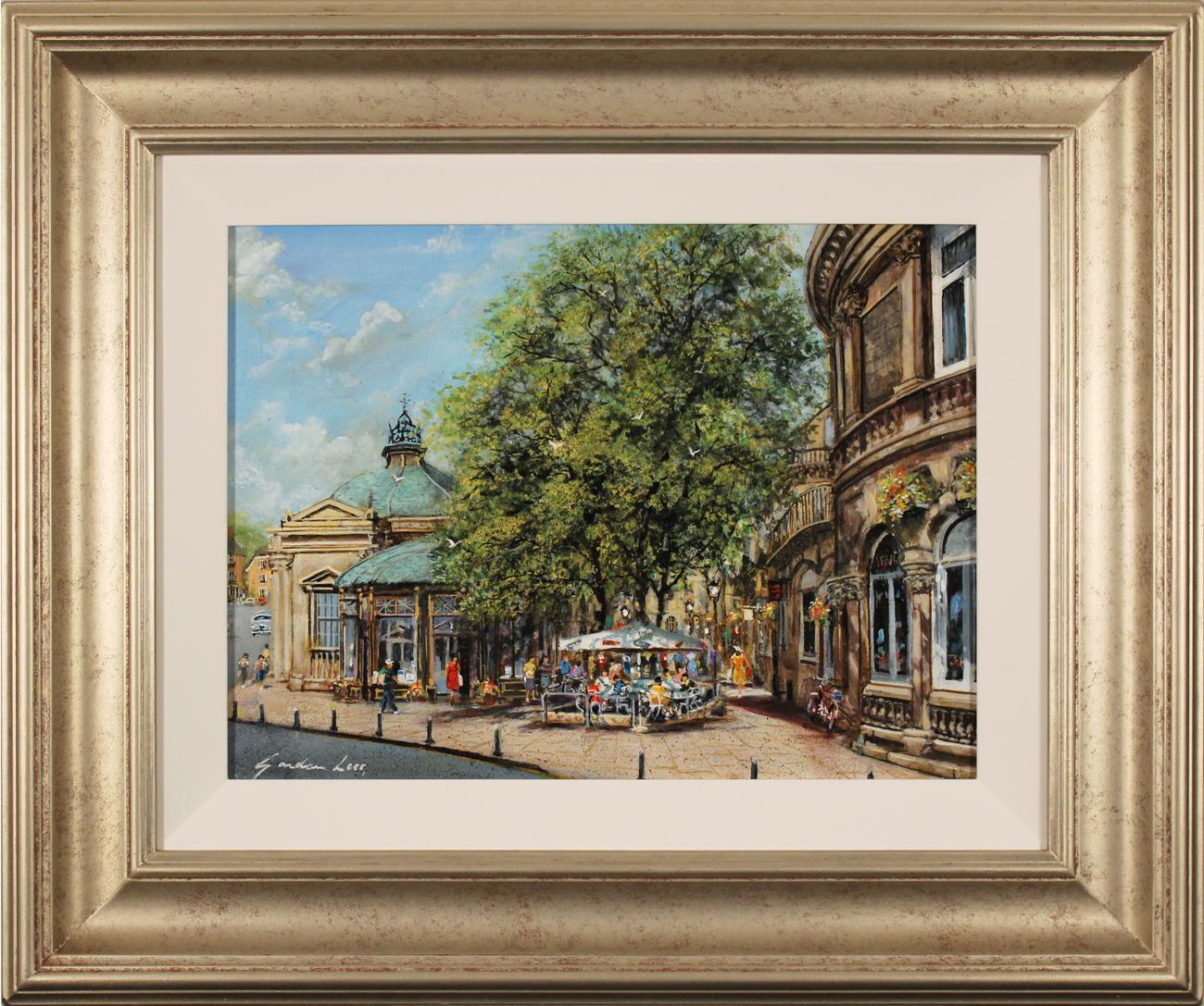 Gordon Lees, Original oil painting on panel, Café Days, Harrogate Click to enlarge