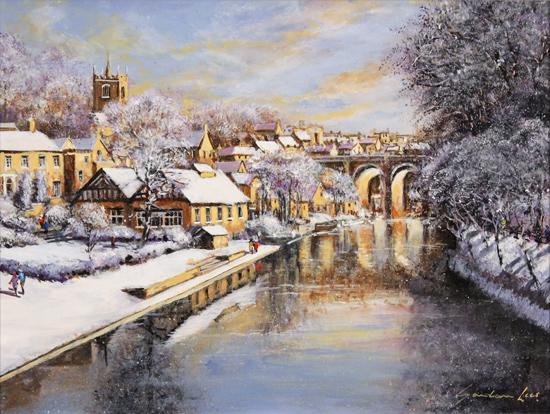 Gordon Lees, Original oil painting on panel, Winter Sun No frame image. Click to enlarge