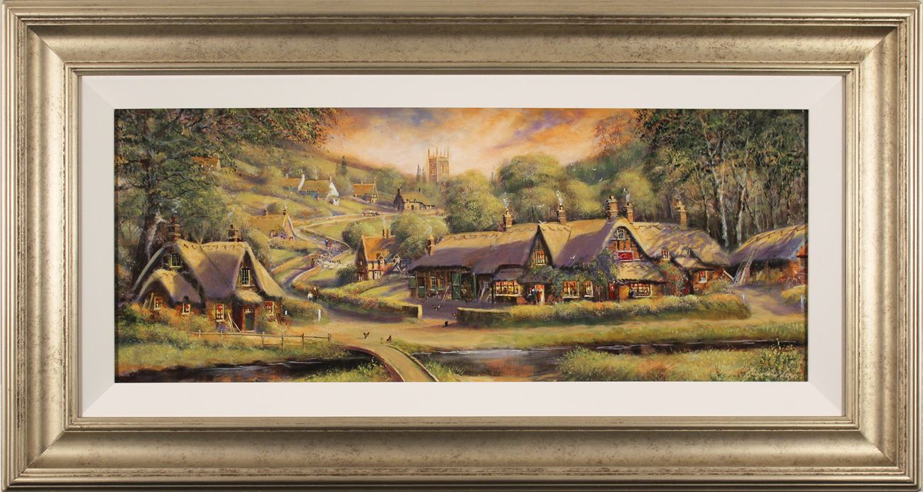 Gordon Lees, Original oil painting on panel, A Summer's Eve Click to enlarge