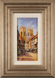 Gordon Lees, Low Petergate, York, Original oil painting on panel
