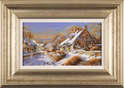 Gordon Lees, Original oil painting on panel, A Light Dusting