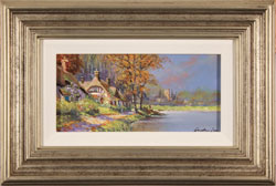 Gordon Lees, Original oil painting on panel, Waterside Cottage